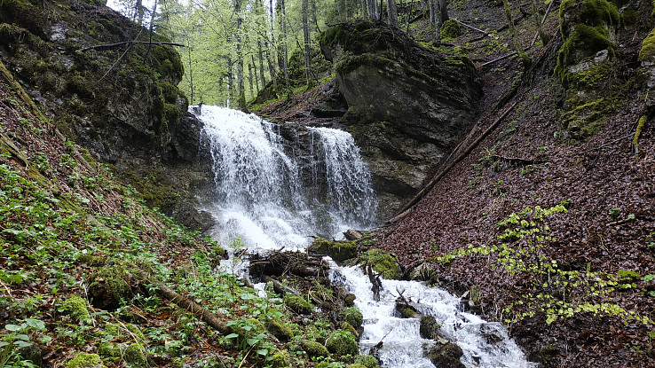 vodopád nad Blatným jazerom v Ľubochnianskej doline