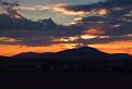 večerné zore nad Zoborskými vrchmi
