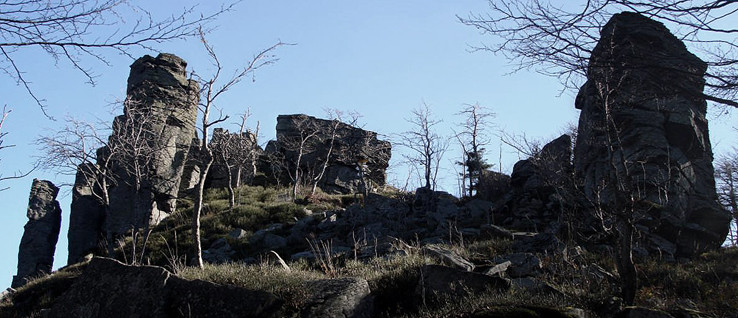 Kláštorská skala na jeseň