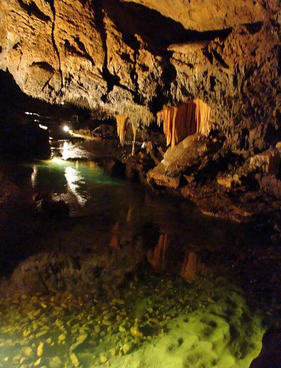 Demänovská jaskyňa slobody - riečka Demänovka so stromom života
