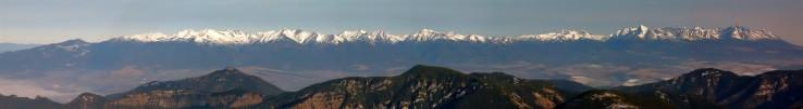 Panorama z Chopku