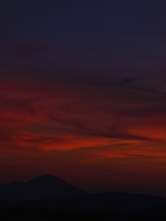 Západ slnka nad Chočom od Hút
