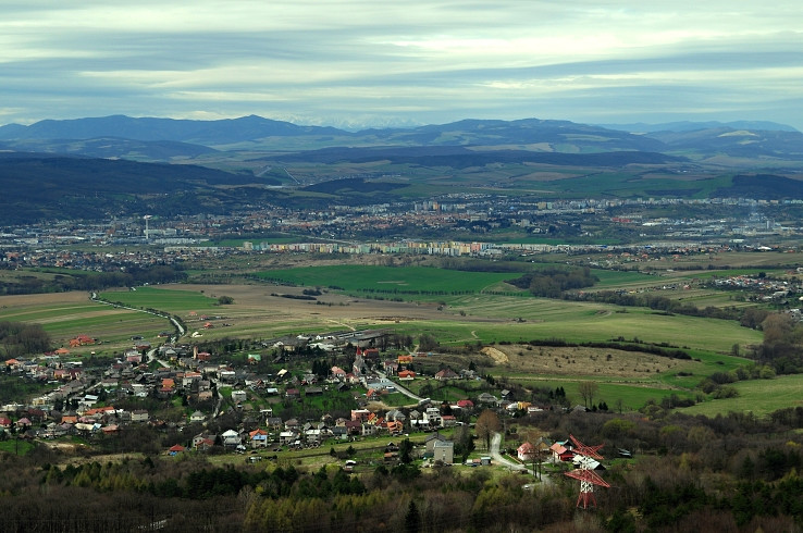 Prešov zo Zbojnického zámku