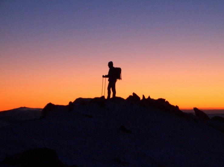 Východ slnka na Ďumbieri