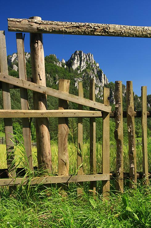 Gotická brána a plot