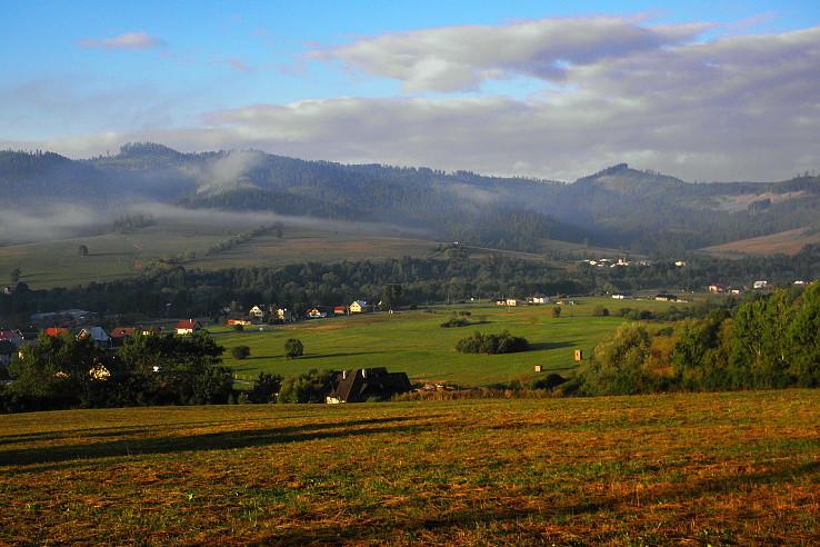 Ráno nad bystrickou dolinou