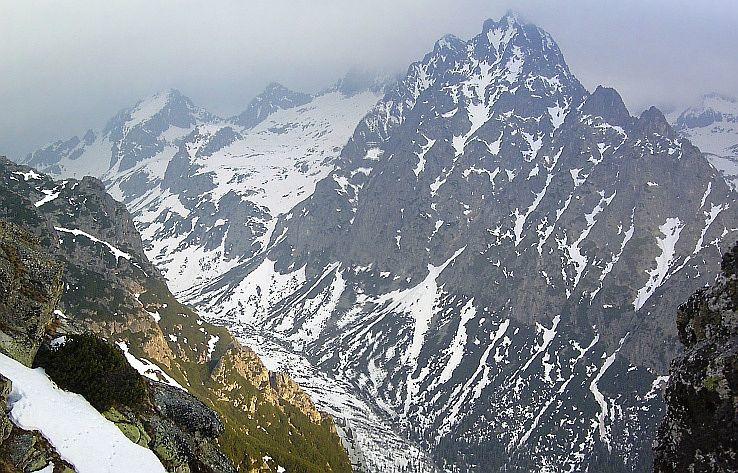 Veľká Studená dolina a Prostredný hrot