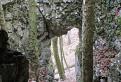 Skalná brána pred jaskyňou Dvorana