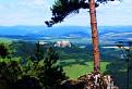 Lietavský hrad a Lysá hora z Bielej skaly