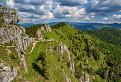 Oblačno miestami Velkofatranský hlavný hrebeň