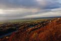 jesenný pohľad zo sandbergovej stráne na Schlosshof
