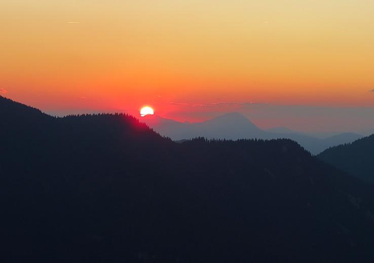Západ Slnka a Veľký Rozsutec