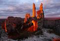 Západ slnka na Plaveckom hrade