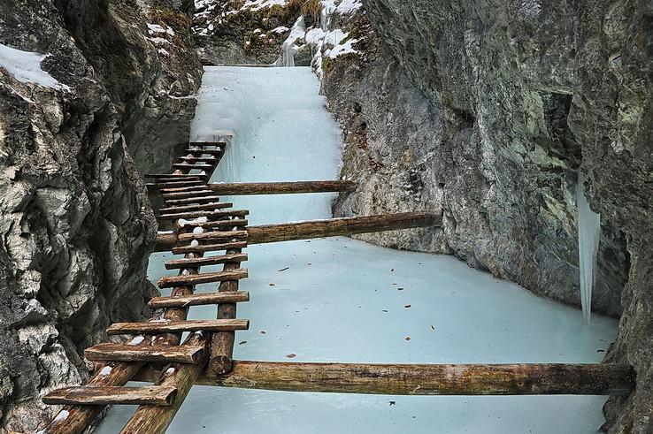Ľadová mystika nižných kaskád