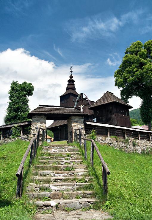 Drevená cerkva v Ruskom Potoku