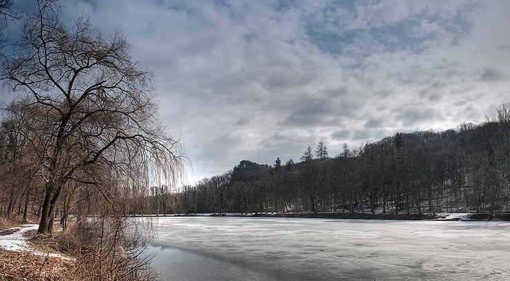 Jasovský rybník v zime