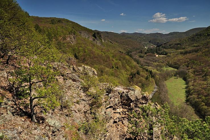 Sklenoteplická dolina zhora