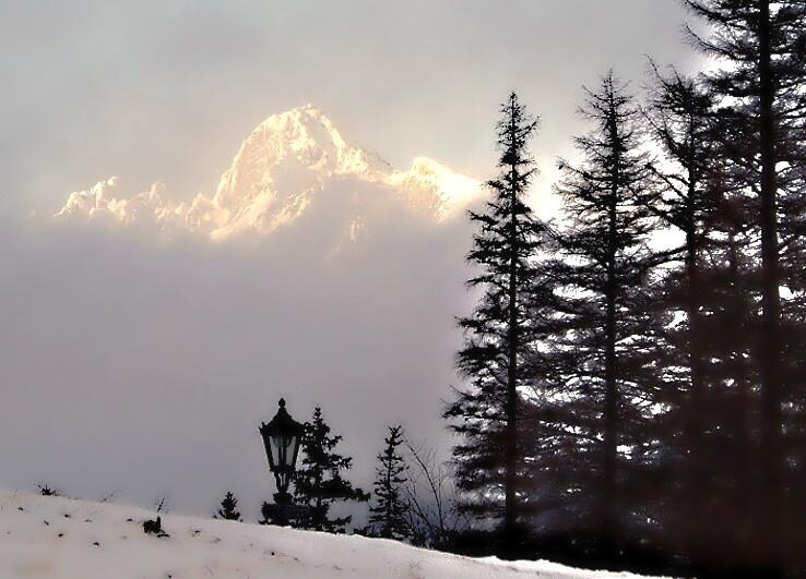 Lomničák nad hmlou