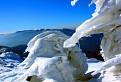 Biela zmrznutá krajina