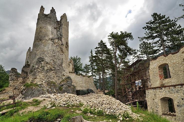 Konzervovanie Blatnického hradu