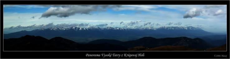 Panorama Vysoke tatry