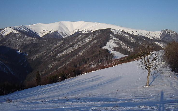Zimný pohľad zo Zadného Japňa