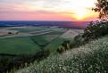 Západ slnka na hrade ...