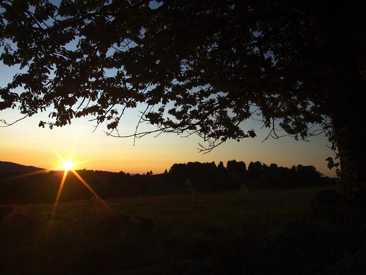 Východ slnka od Táňova