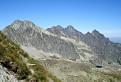 Výhľad zo sedla Prielom smerom na Veľkú Studenú dolinu