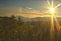 Západ slnka nad Slovenským Rajom