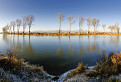Na rybníku mrazivo