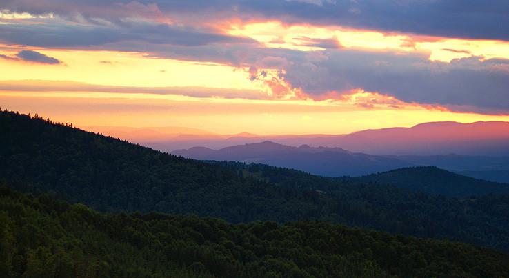 Západ slnka nad NT