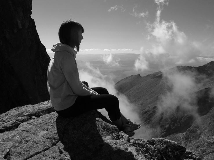 sedím si na skale