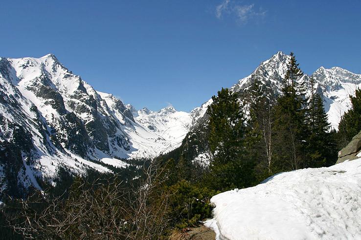 Slavkovský štít s Veľkou studenou dolinou