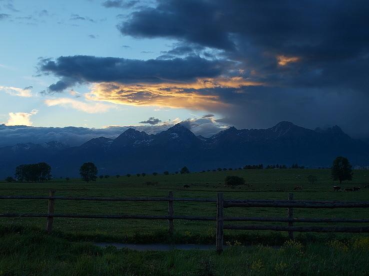Po západe slnka.