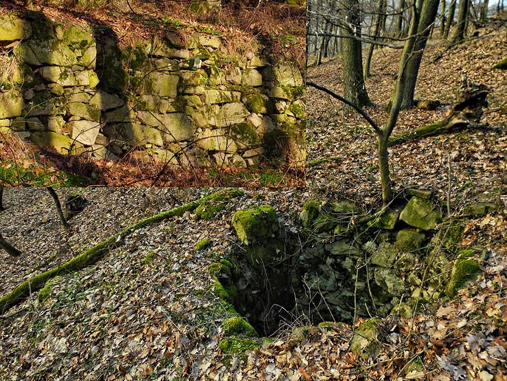 Kamenné pozostatky v Mokrom jarku