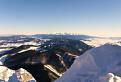 Veľký Choč - pohľad z vrcholu na Vysoké Tatry