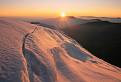 Zimno-jesenný západ slnka