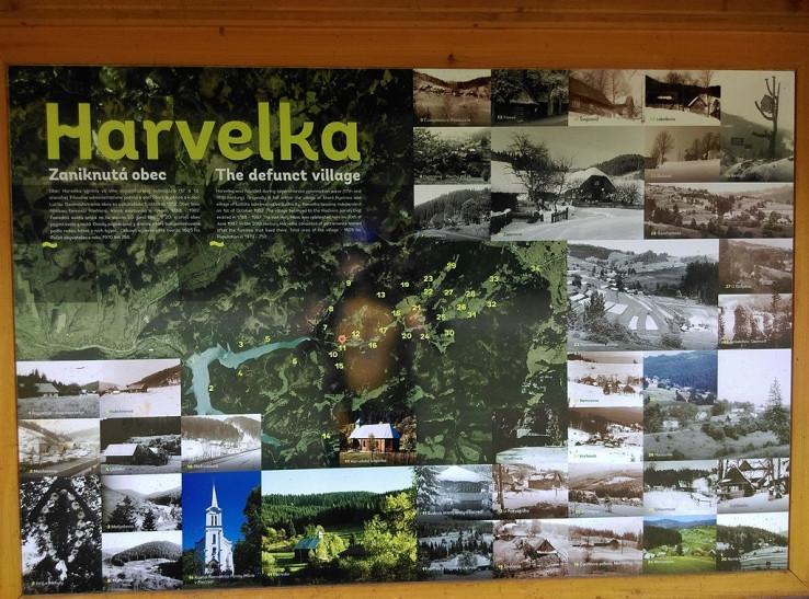 Harvelka a jej minulé usadlosti
