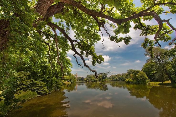 U zámeckého rybníku
