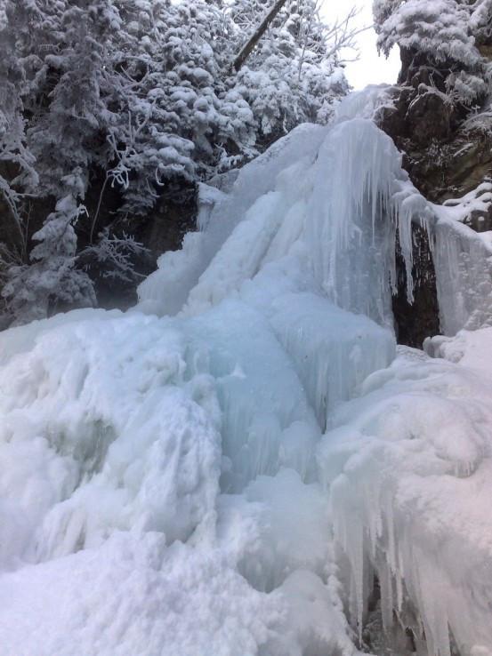 Roháčsky vodopád v zime