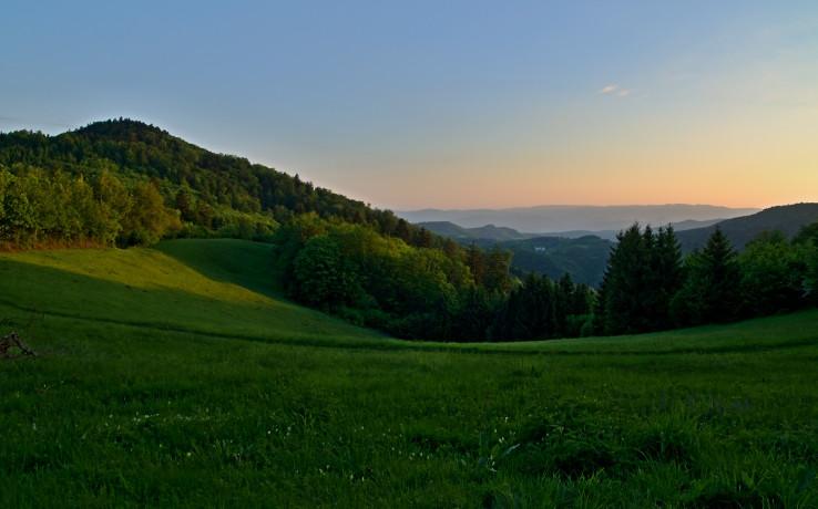 Ráno v Štiavnických vrchoch