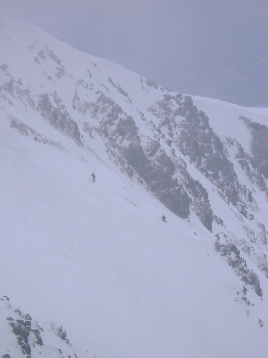 Skialpinisti pod Chopkom