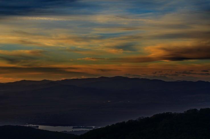 zapad slnka nad Kosicami