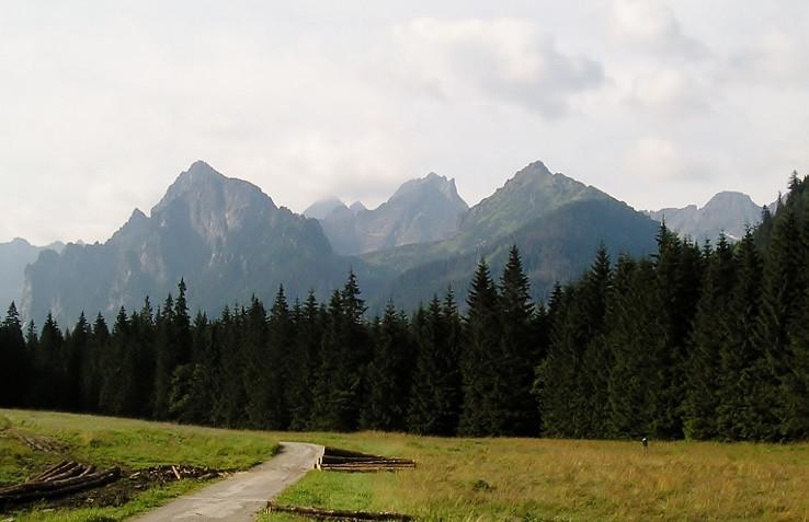 Panoráma od horárne v Bielovodskej doline