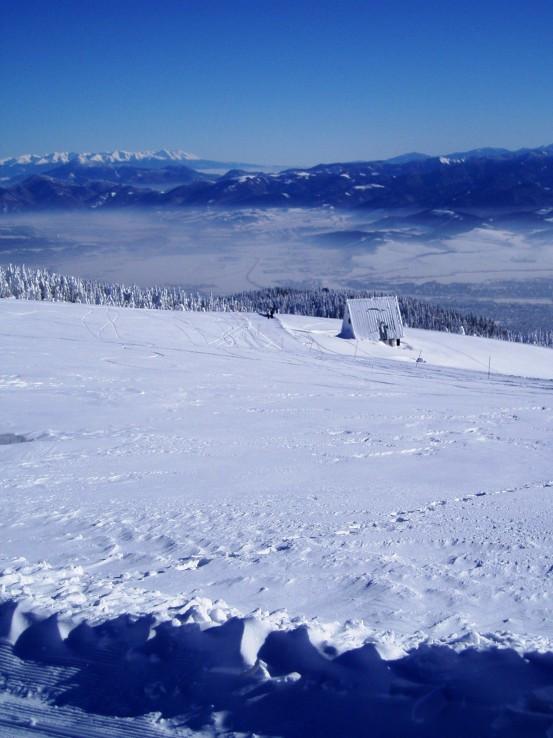 Zimný výhľad z Martinských holí