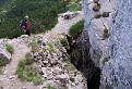 Skalná puklina v Radových skalách