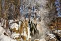 Lúčanský vodopád v zimnom šate