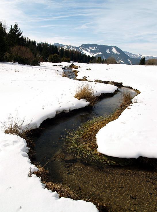 Meandre Lúžňanky v zime III.