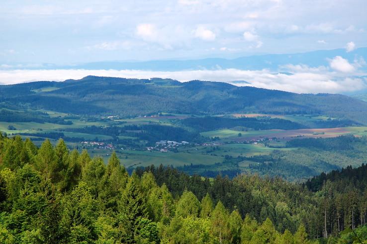 pohľad do údolia